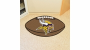 "Fan Mats 5763  NFL - Minnesota Vikings 20.5"" x 32.5"" Football Shaped Area Rug"
