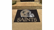 "Fan Mats 5767  NFL - New Orleans Saints 33.75"" x 42.5"" All-Star Series Area Rug / Mat"