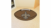 "Fan Mats 5771  NFL - New Orleans Saints 20.5"" x 32.5"" Football Shaped Area Rug"