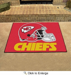 "Fan Mats 5782  NFL - Kansas City Chiefs 33.75"" x 42.5"" All-Star Series Area Rug / Mat"