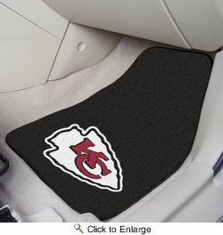 "Fan Mats 5783  NFL - Kansas City Chiefs 17"" x 27"" Carpeted Car Mat Set"