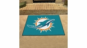 "Fan Mats 5789  NFL - Miami Dolphins 33.75"" x 42.5"" All-Star Series Area Rug / Mat"