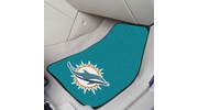 "Fan Mats 5790  NFL - Miami Dolphins 17"" x 27"" Carpeted Car Mat Set"
