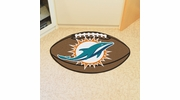 "Fan Mats 5792  NFL - Miami Dolphins 20.5"" x 32.5"" Football Shaped Area Rug"
