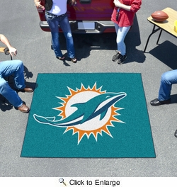 Fan Mats 5794  NFL - Miami Dolphins 5' x 6' Tailgater Mat / Area Rug