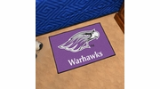 "Fan Mats 580  UW-W - University of Wisconsin Whitewater Warhawks 19"" x 30"" Starter Series Area Rug / Mat"
