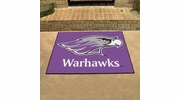 "Fan Mats 581  UW-W - University of Wisconsin Whitewater Warhawks 33.75"" x 42.5"" All-Star Series Area Rug / Mat"
