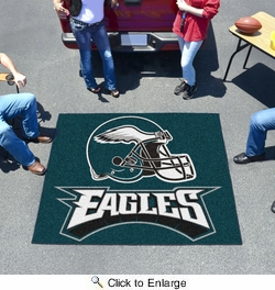 Fan Mats 5823  NFL - Philadelphia Eagles 5' x 6' Tailgater Mat / Area Rug