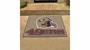"Fan Mats 5832  NFL - San Francisco 49ers 33.75"" x 42.5"" All-Star Series Area Rug / Mat"