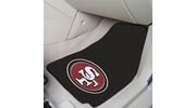 "Fan Mats 5833  NFL - San Francisco 49ers 17"" x 27"" Carpeted Car Mat Set"