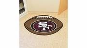 "Fan Mats 5835  NFL - San Francisco 49ers 20.5"" x 32.5"" Football Shaped Area Rug"