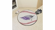 "Fan Mats 584  UW-W - University of Wisconsin Whitewater Warhawks 27"" Diameter Baseball Shaped Area Rug"