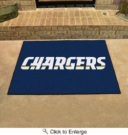 """Fan Mats 5846  NFL - San Diego Chargers 33.75"""" x 42.5"""" All-Star Series Area Rug / Mat"""