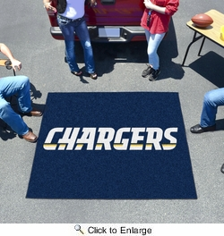 Fan Mats 5853  NFL - San Diego Chargers 5' x 6' Tailgater Mat / Area Rug