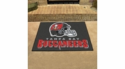 "Fan Mats 5854  NFL - Tampa Bay Buccaneers 33.75"" x 42.5"" All-Star Series Area Rug / Mat"