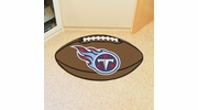 """Fan Mats 5863  NFL - Tennessee Titans 20.5"""" x 32.5"""" Football Shaped Area Rug"""