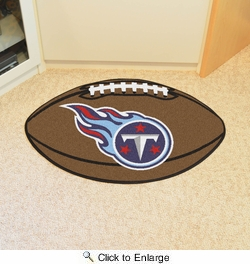 "Fan Mats 5863  NFL - Tennessee Titans 20.5"" x 32.5"" Football Shaped Area Rug"