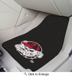 "Fan Mats 5875  UGA - University of Georgia Bulldogs - Black 17"" x 27"" Carpeted Car Mat Set"