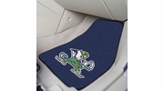 "Fan Mats 6037  ND - University of Notre Dame Fighting Irish 17"" x 27"" Carpeted Car Mat Set"