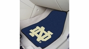 "Fan Mats 6059  ND - University of Notre Dame Fighting Irish 17"" x 27"" Carpeted Car Mat Set"