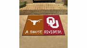 "Fan Mats 6123  Texas Longhorns vs Oklahoma Sooners 33.75"" x 42.5"" House Divided Area Rug / Mat"
