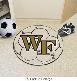 "Fan Mats 619  Wake Forest University Demon Deacons 27"" Diameter Soccer Ball Shaped Area Rug"