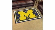 Fan Mats 6263  UM - University of Michigan Wolverines 4' x 6' Area Rug