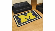 Fan Mats 6264  UM - University of Michigan Wolverines 5' x 8' Area Rug