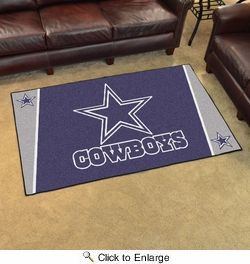 Fan Mats 6270  NFL - Dallas Cowboys 4' x 6' Area Rug