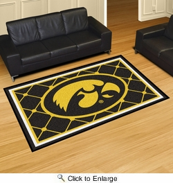 Fan Mats 6285  UI - University of Iowa Hawkeyes 5' x 8' Area Rug