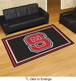Fan Mats 6293  NCSU - North Carolina State University Wolfpack 5' x 8' Area Rug