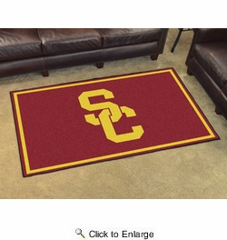 Fan Mats 6304  USC - University of Southern California Trojans 4' x 6' Area Rug