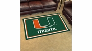 Fan Mats 6312  UM - University of Miami Hurricanes 4' x 6' Area Rug