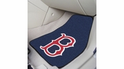 "Fan Mats 6333  MLB - Boston Red Sox 17"" x 27"" Carpeted Car Mat Set"
