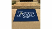 "Fan Mats 6349  MLB - Tampa Bay Rays 33.75"" x 42.5"" All-Star Series Area Rug / Mat"