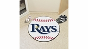 "Fan Mats 6350  MLB - Tampa Bay Rays 27"" Diameter Baseball Shaped Area Rug"