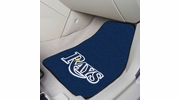 "Fan Mats 6354  MLB - Tampa Bay Rays 17"" x 27"" Carpeted Car Mat Set"