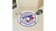 "Fan Mats 6359  MLB - Toronto Blue Jays 27"" Diameter Baseball Shaped Area Rug"