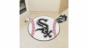 "Fan Mats 6365  MLB - Chicago White Sox 27"" Diameter Baseball Shaped Area Rug"
