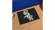 "Fan Mats 6370  MLB - Chicago White Sox 19"" x 30"" Starter Series Area Rug / Mat"