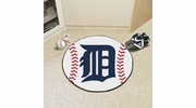 "Fan Mats 6381  MLB - Detroit Tigers 27"" Diameter Baseball Shaped Area Rug"