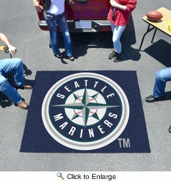 Fan Mats 6419  MLB - Seattle Mariners 5' x 6' Tailgater Mat / Area Rug