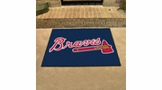 "Fan Mats 6428  MLB - Atlanta Braves 33.75"" x 42.5"" All-Star Series Area Rug / Mat"