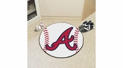 "Fan Mats 6429  MLB - Atlanta Braves 27"" Diameter Baseball Shaped Area Rug"