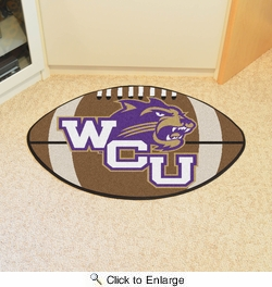 "Fan Mats 643  WCU - Western Carolina University Catamounts 20.5"" x 32.5"" Football Shaped Area Rug"
