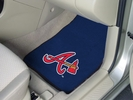 "Fan Mats 6430  MLB - Atlanta Braves 17"" x 27"" Carpeted Car Mat Set"