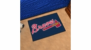 "Fan Mats 6432  MLB - Atlanta Braves 19"" x 30"" Starter Series Area Rug / Mat"