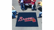 Fan Mats 6433  MLB - Atlanta Braves 5' x 6' Tailgater Mat / Area Rug