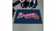 Fan Mats 6434  MLB - Atlanta Braves 5' x 8' Ulti-Mat Area Rug / Mat