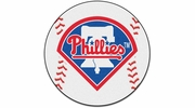 "Fan Mats 6450  MLB - Philadelphia Phillies 27"" Diameter Baseball Shaped Area Rug"